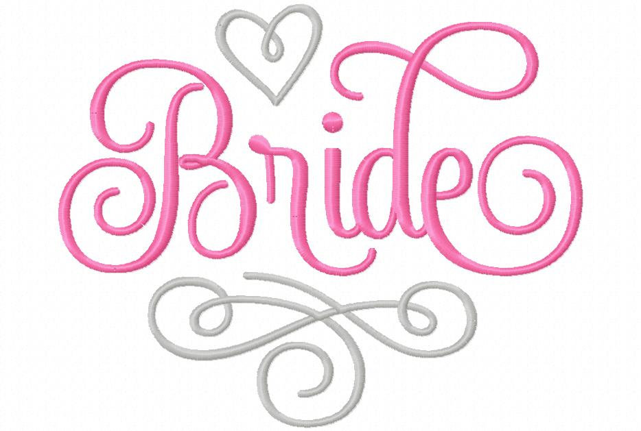 Huge Set Wedding Party Bridal Brigade Machine Embroidery Designs 3 Sizes each Design Instant Digital Download
